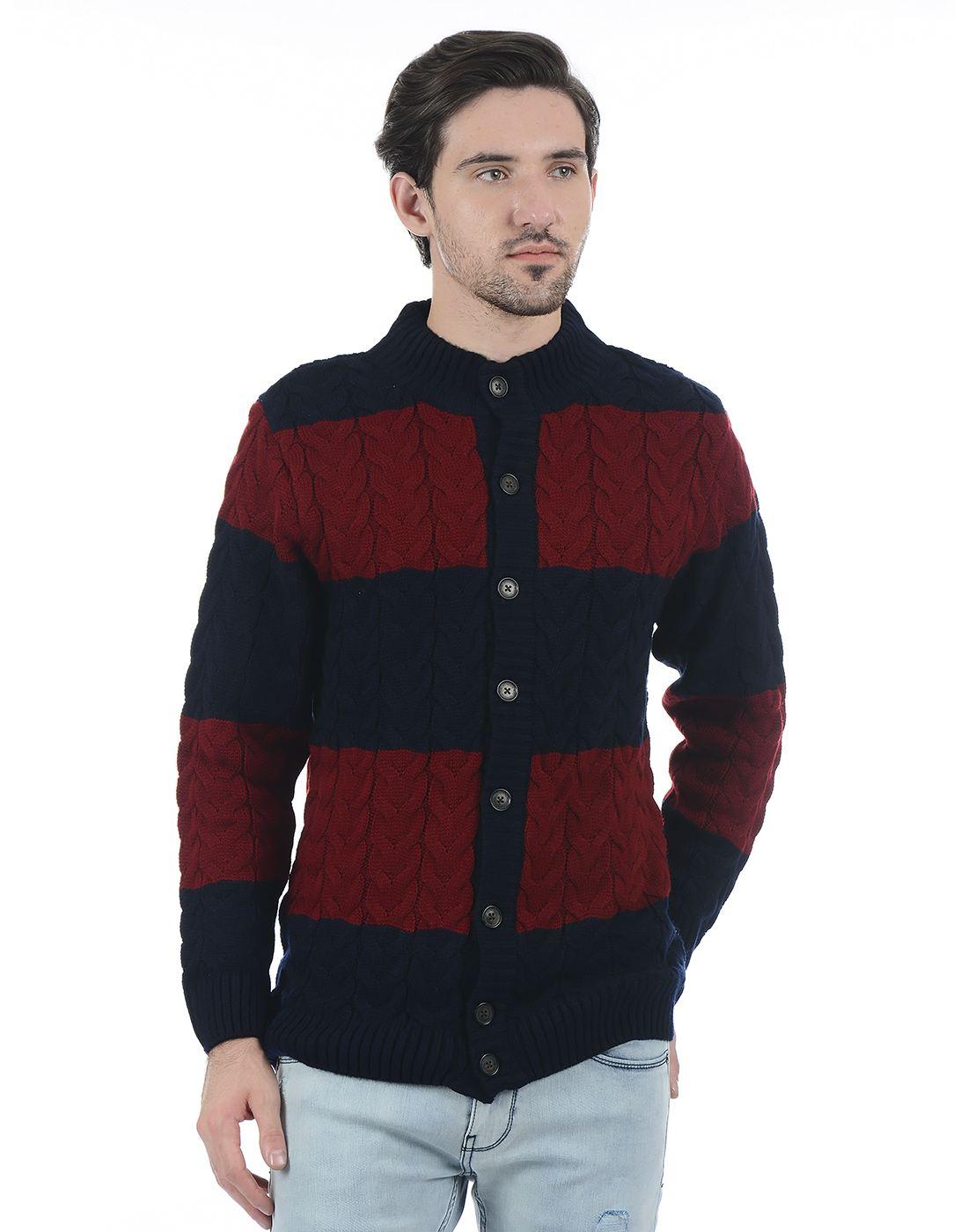 London Fog Men Maroon Sweater