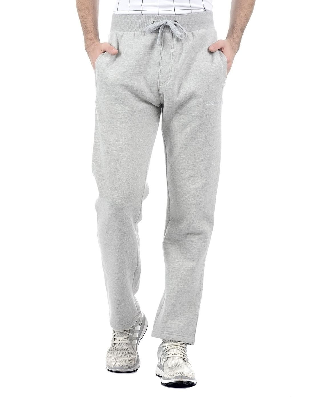 London Fog Men Grey Track Pant