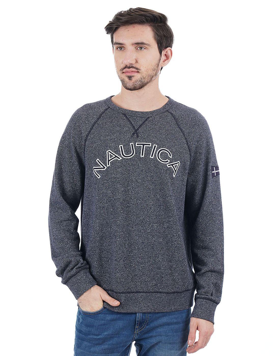 Nautica Men Navy Sweat Shirt