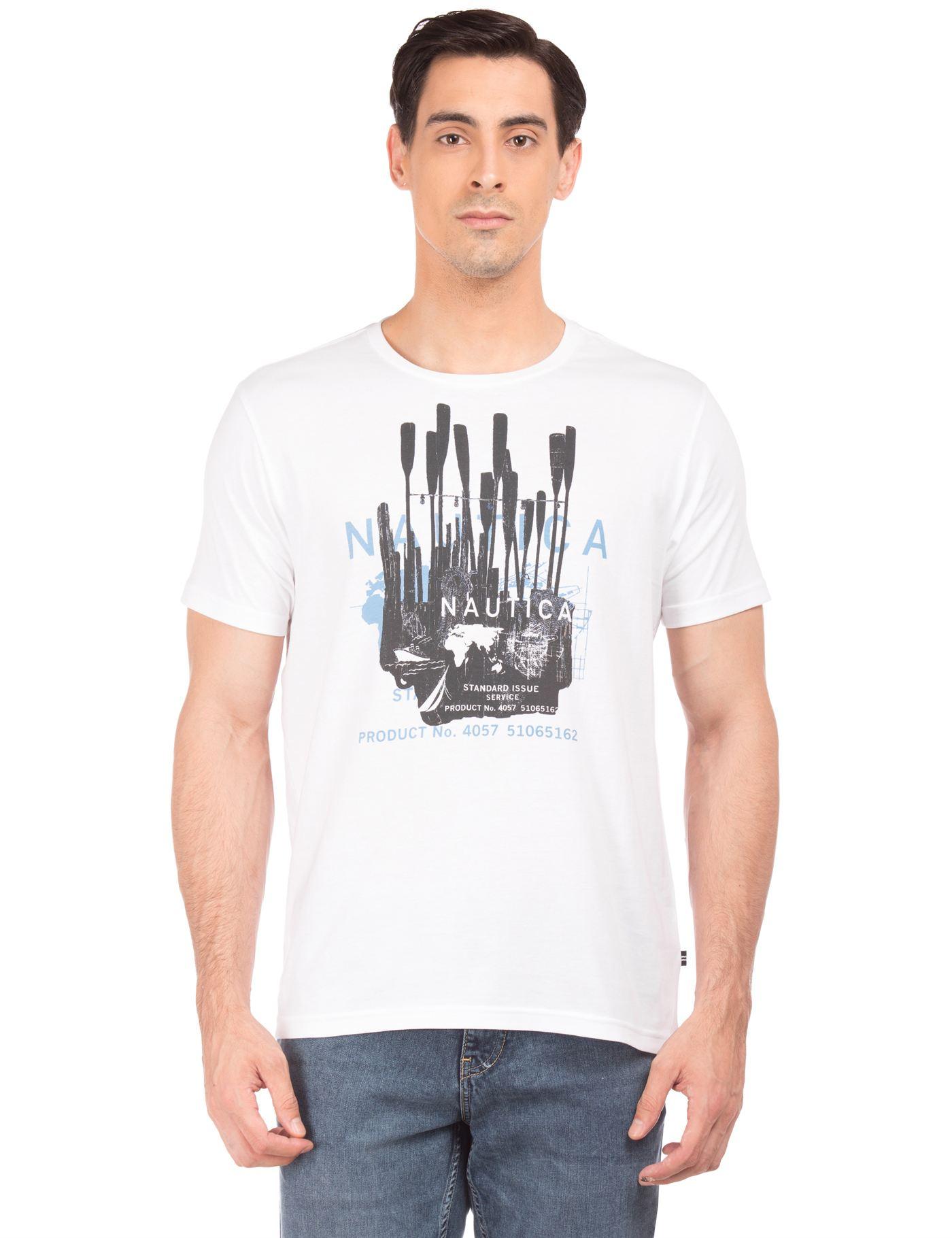 Nautica Men White T-Shirt