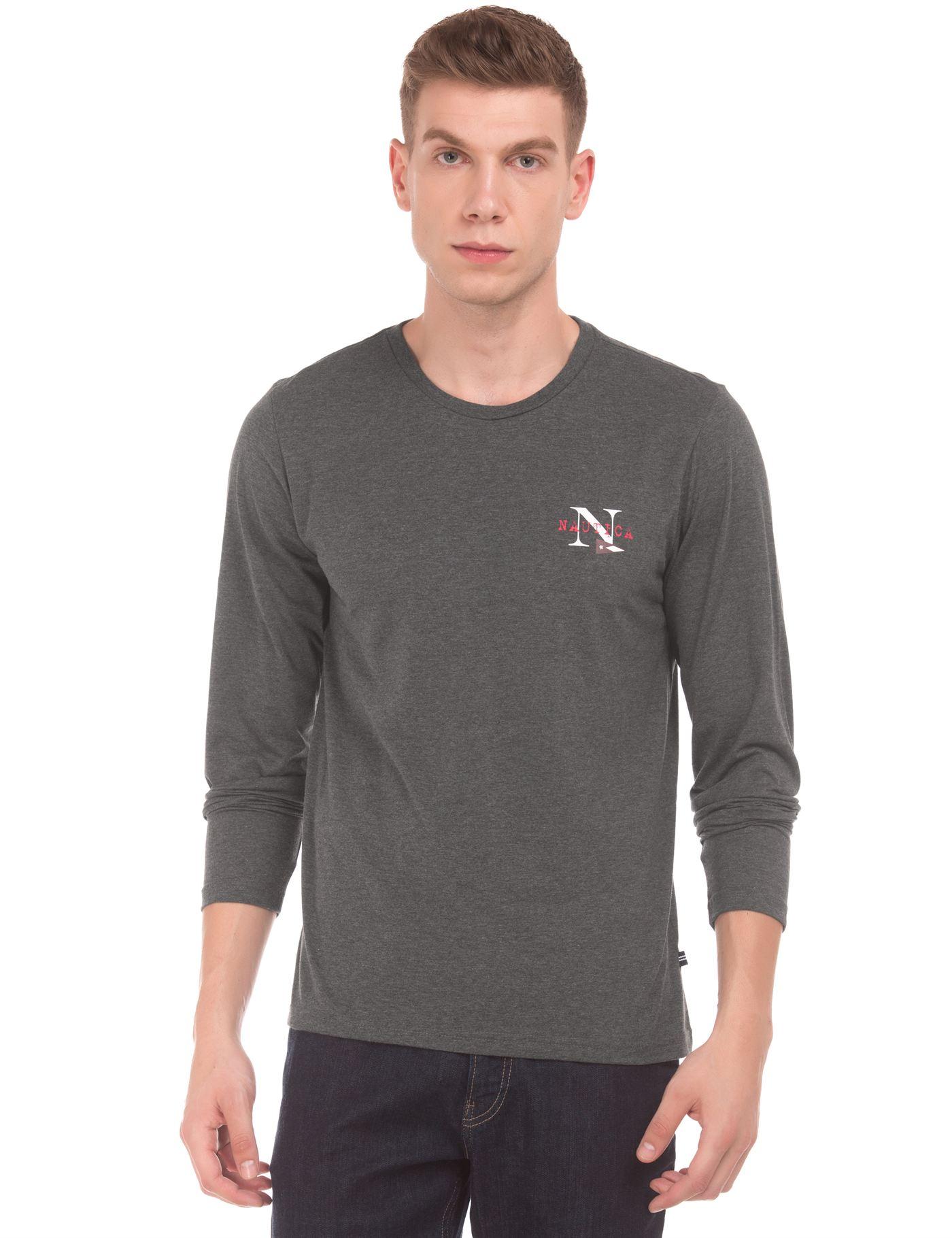 Nautica Men Grey T-Shirt