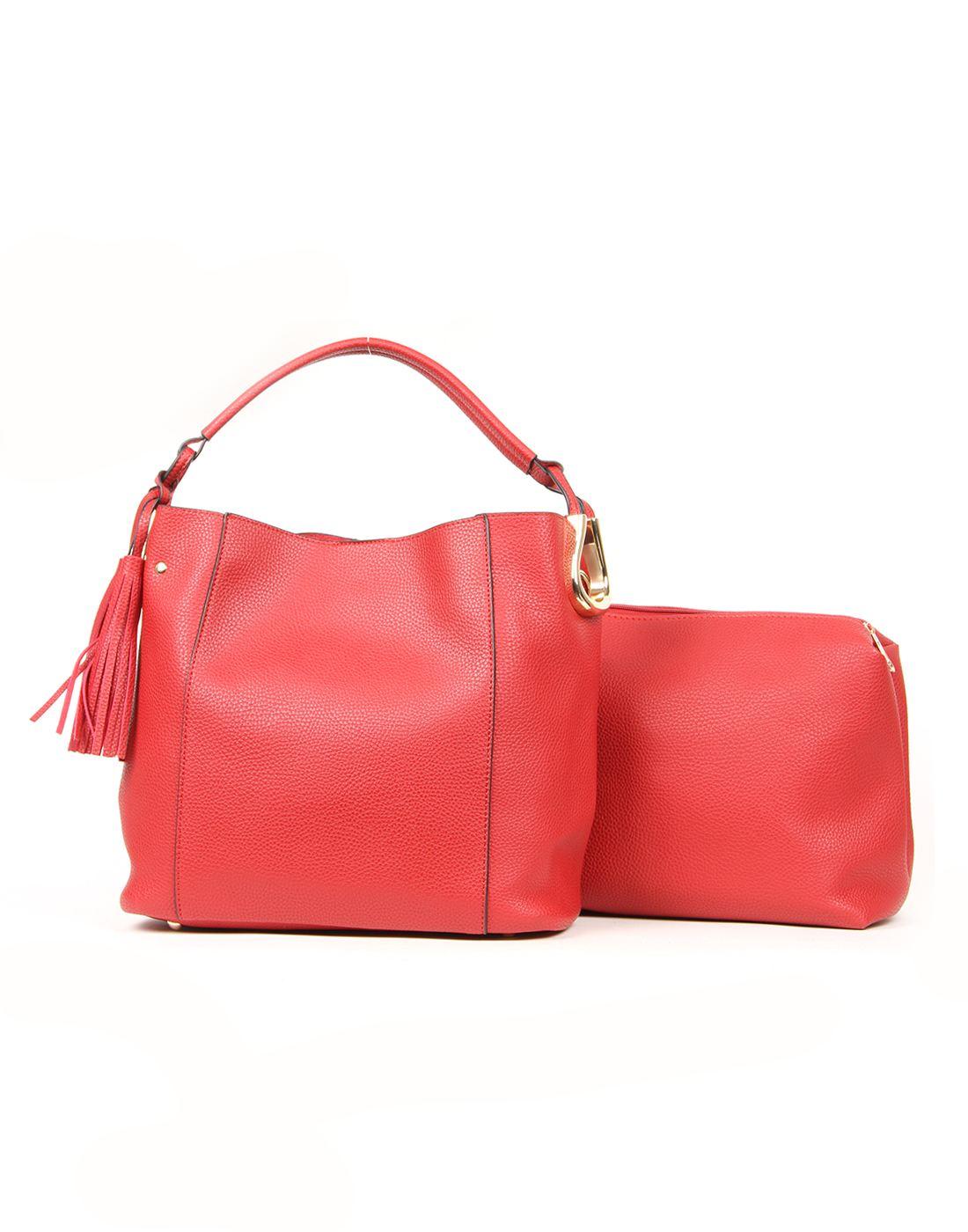 Norman Todd Women Red Shoulder Bag