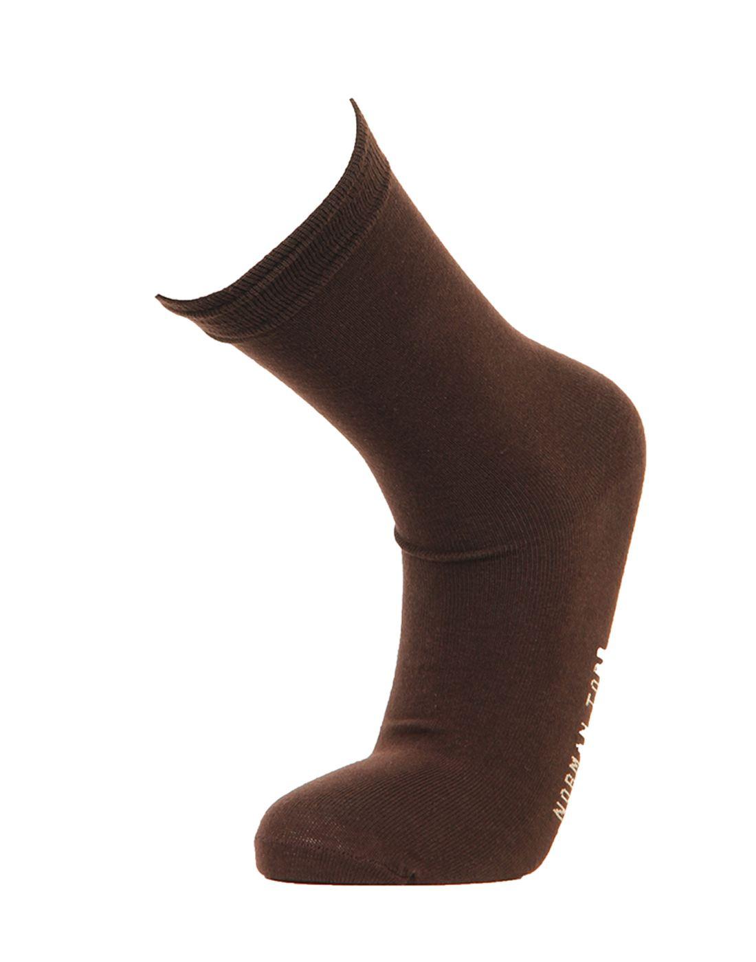 Norman Todd Women Brown Mid-calf Length Socks