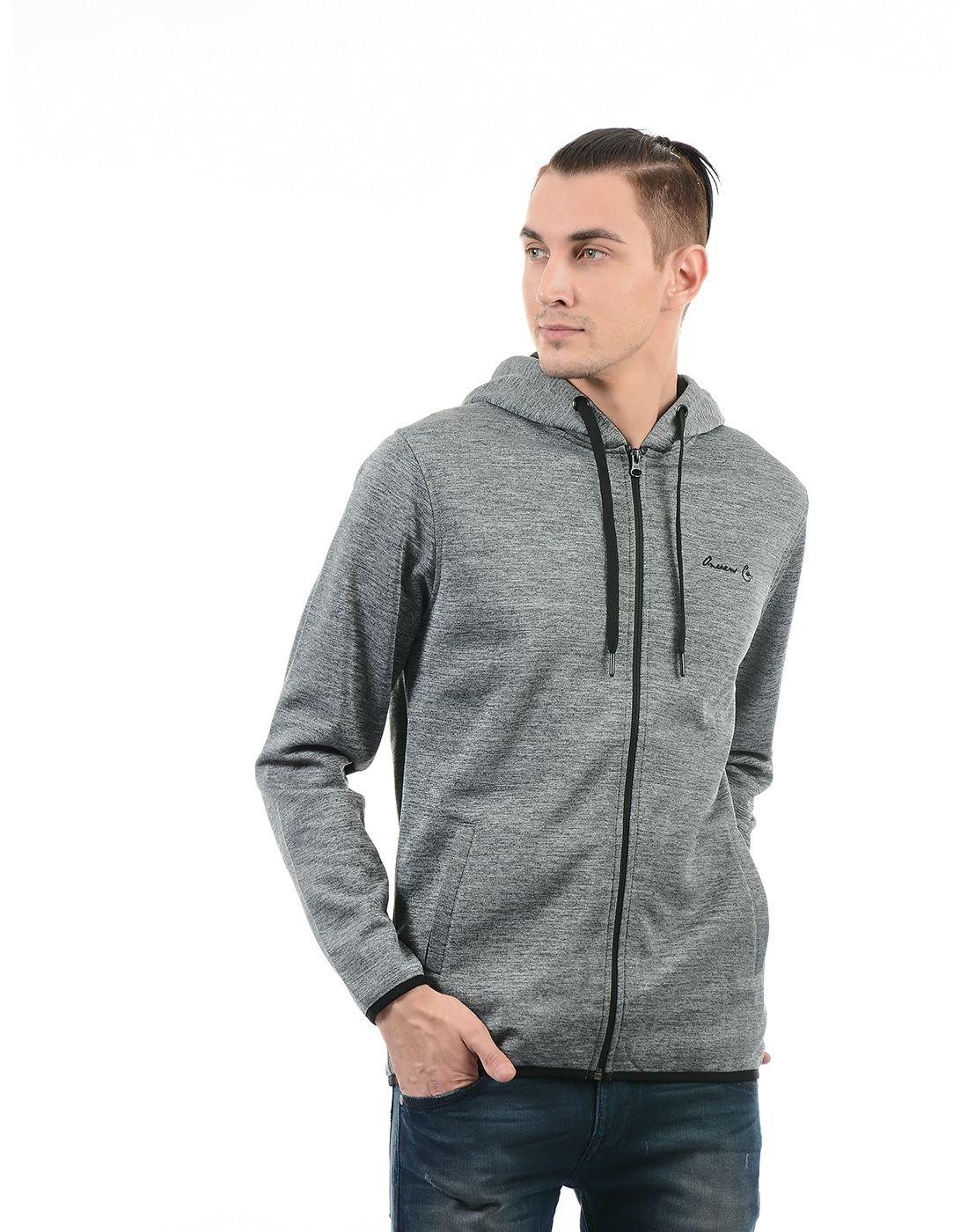On-Vers Men Grey Sweatshirt
