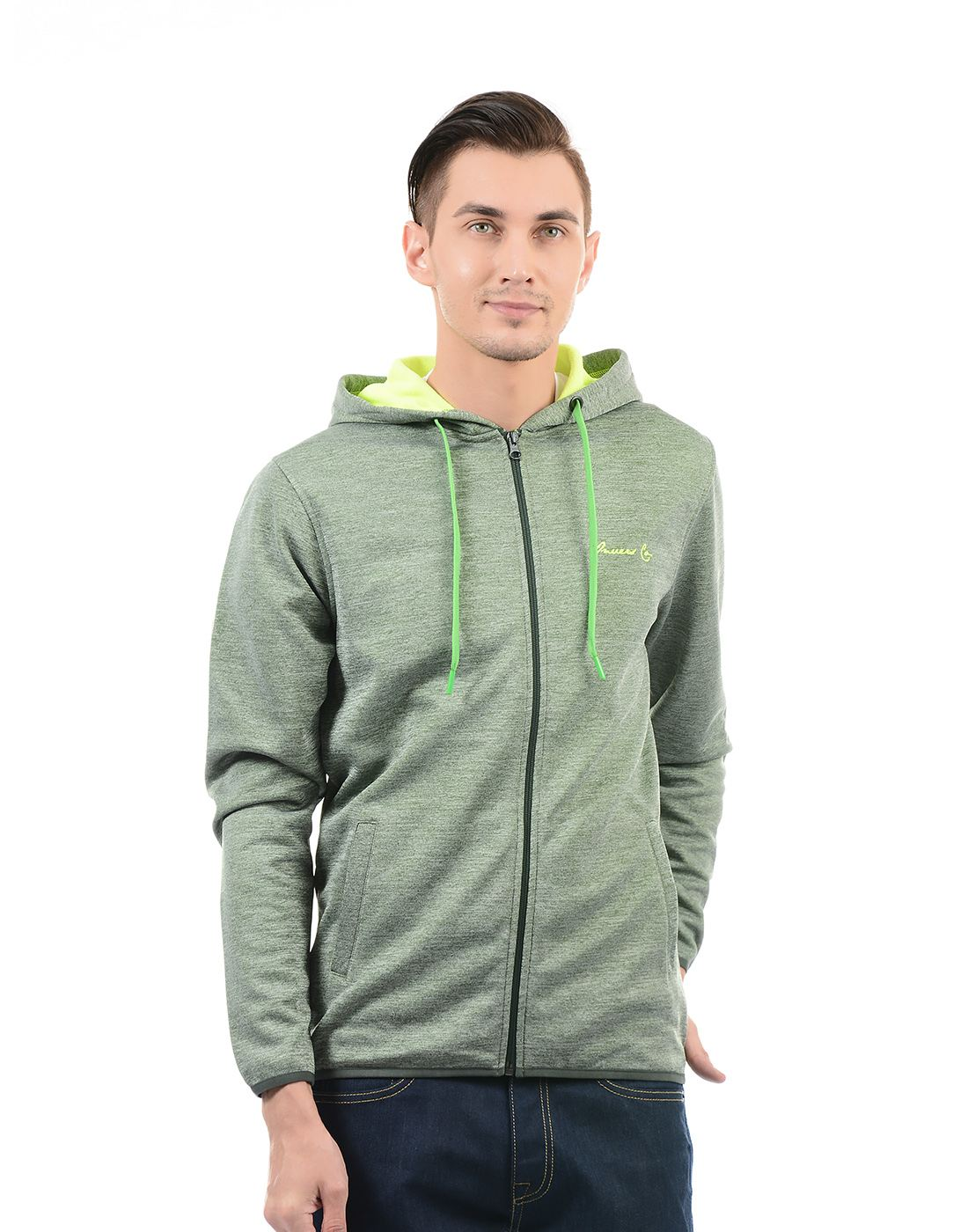 On-Vers Men Green::Grey Sweatshirt