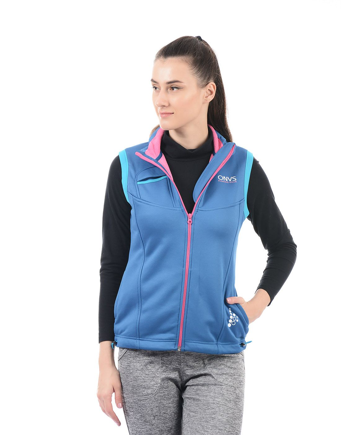 On-Vers Women Blue Jacket