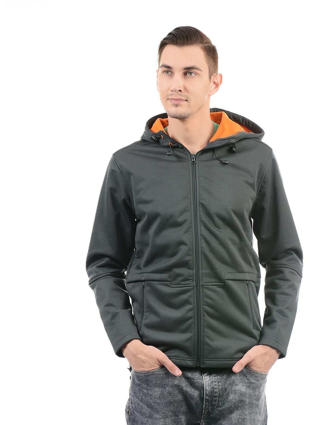 On-Vers Men Grey Jacket