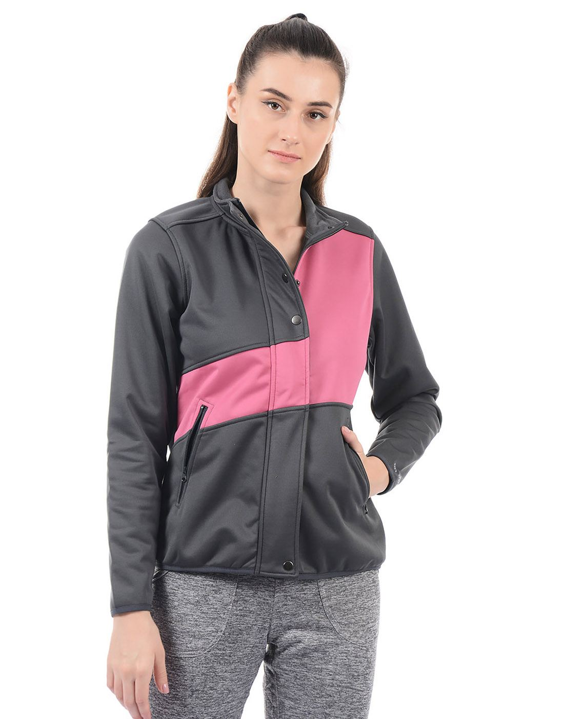 On-Vers Women Casual Wear Solid Jacket