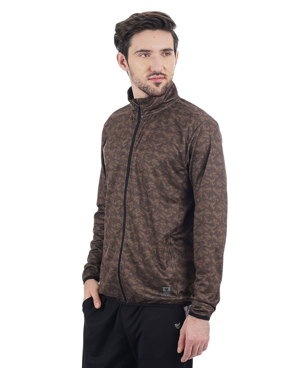 On-Vers Men Casual Wear Printed Jacket