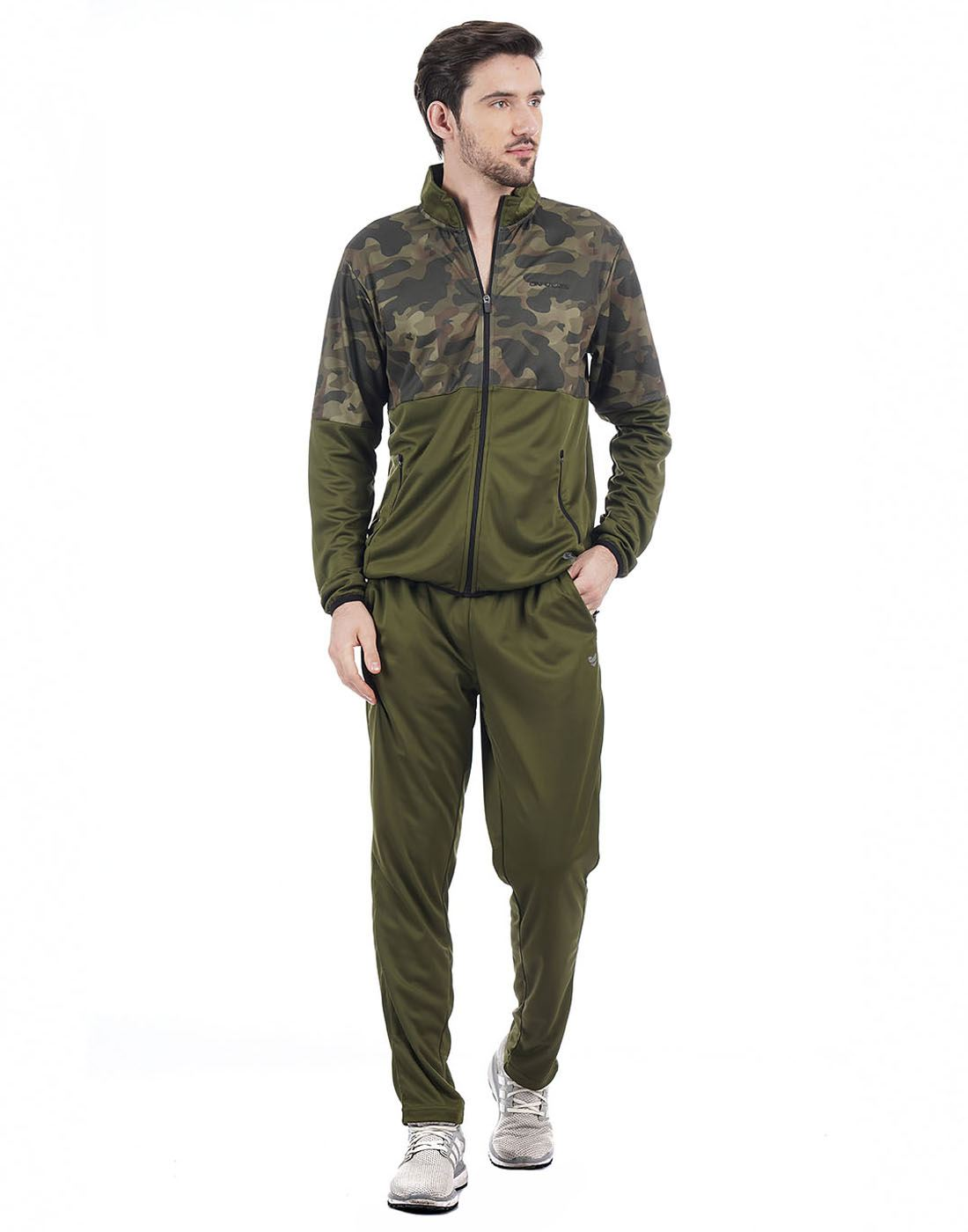 On-Vers Men Olive Track Suit