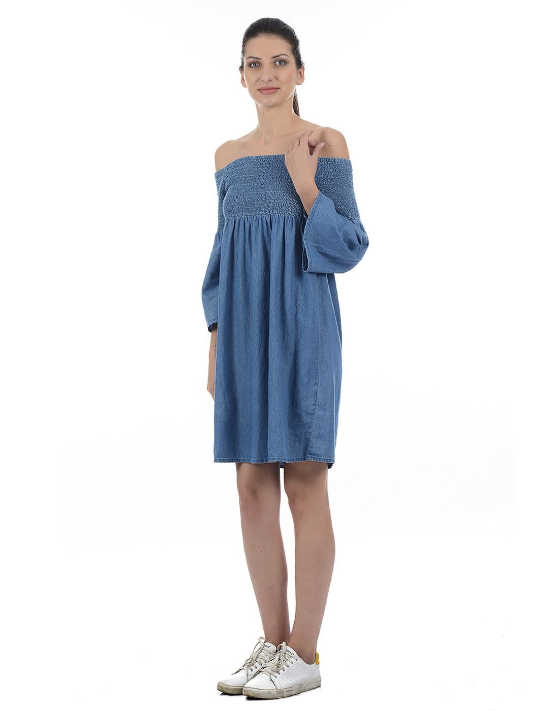 Only Women Casual Blue Dress