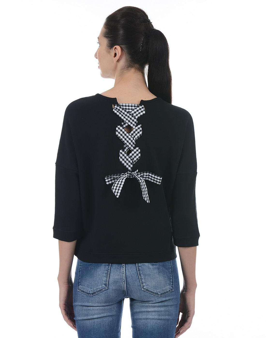 Only Women Casual Black Sweater
