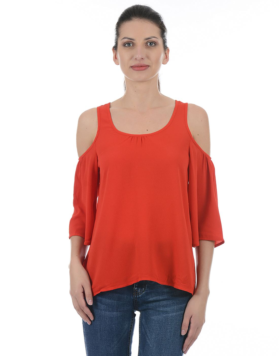 Only Women Casual Red Top