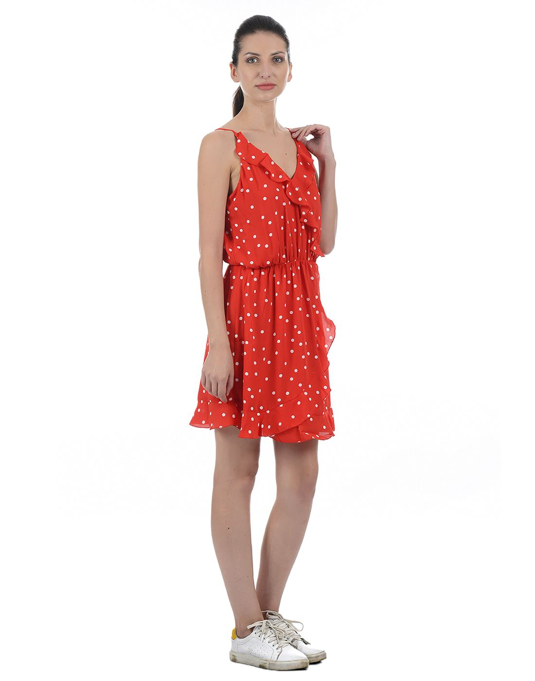 Only Women Casual Red Dress