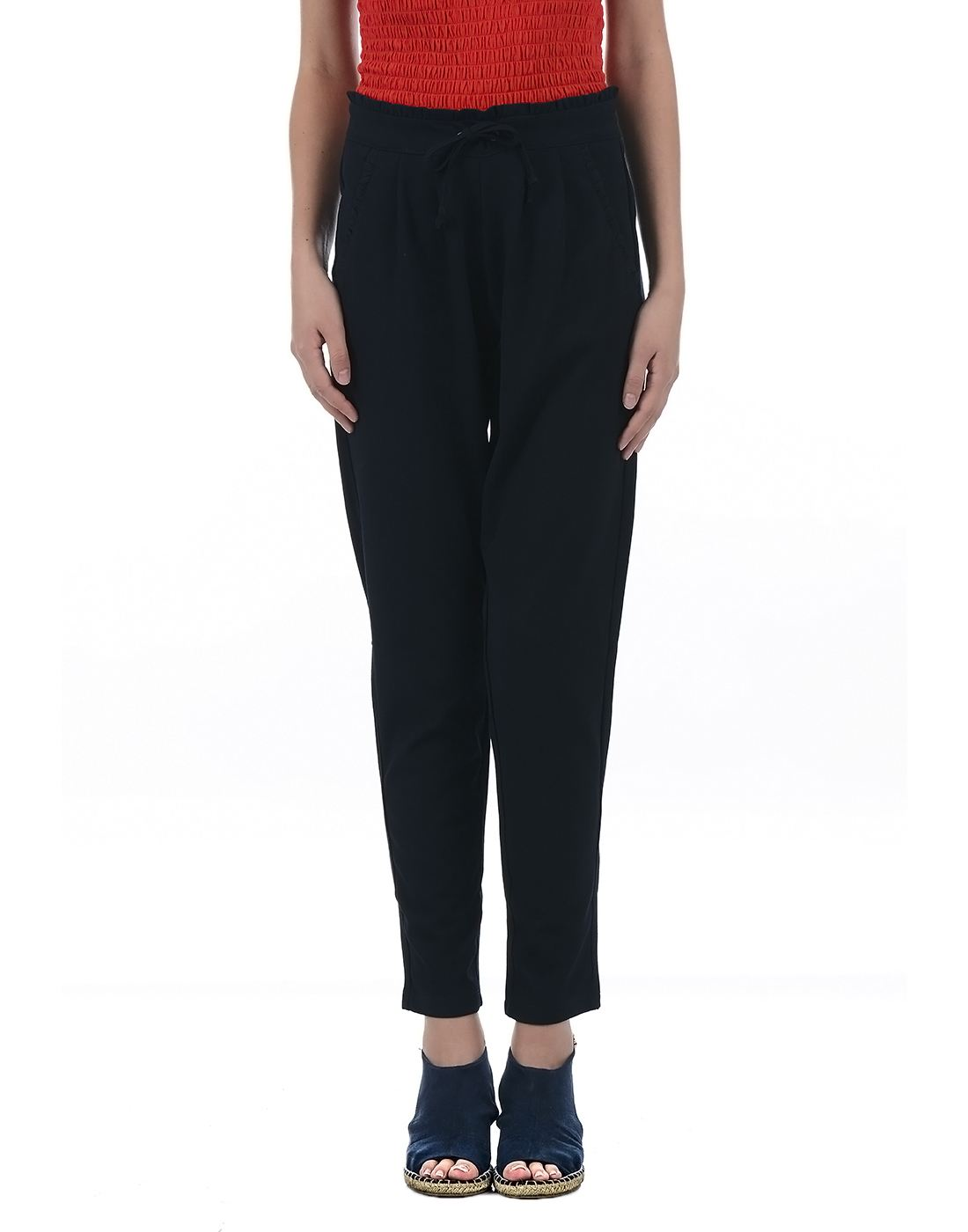 Only Women Casual Blue Trouser