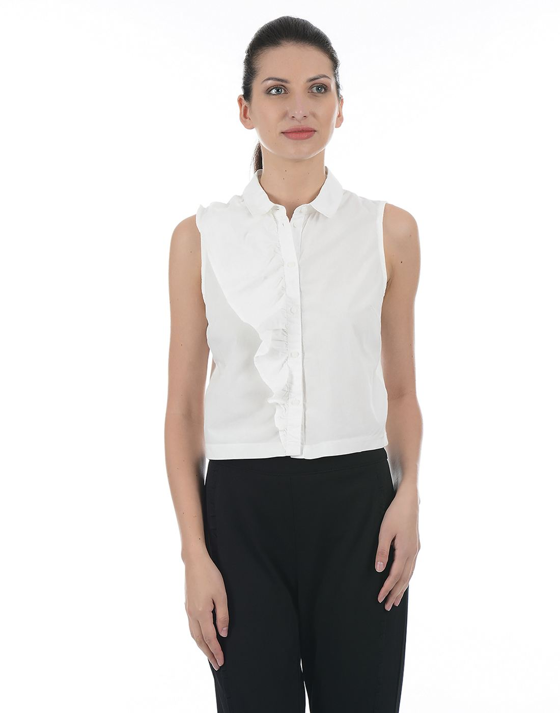 Only Women Casual White Shirt