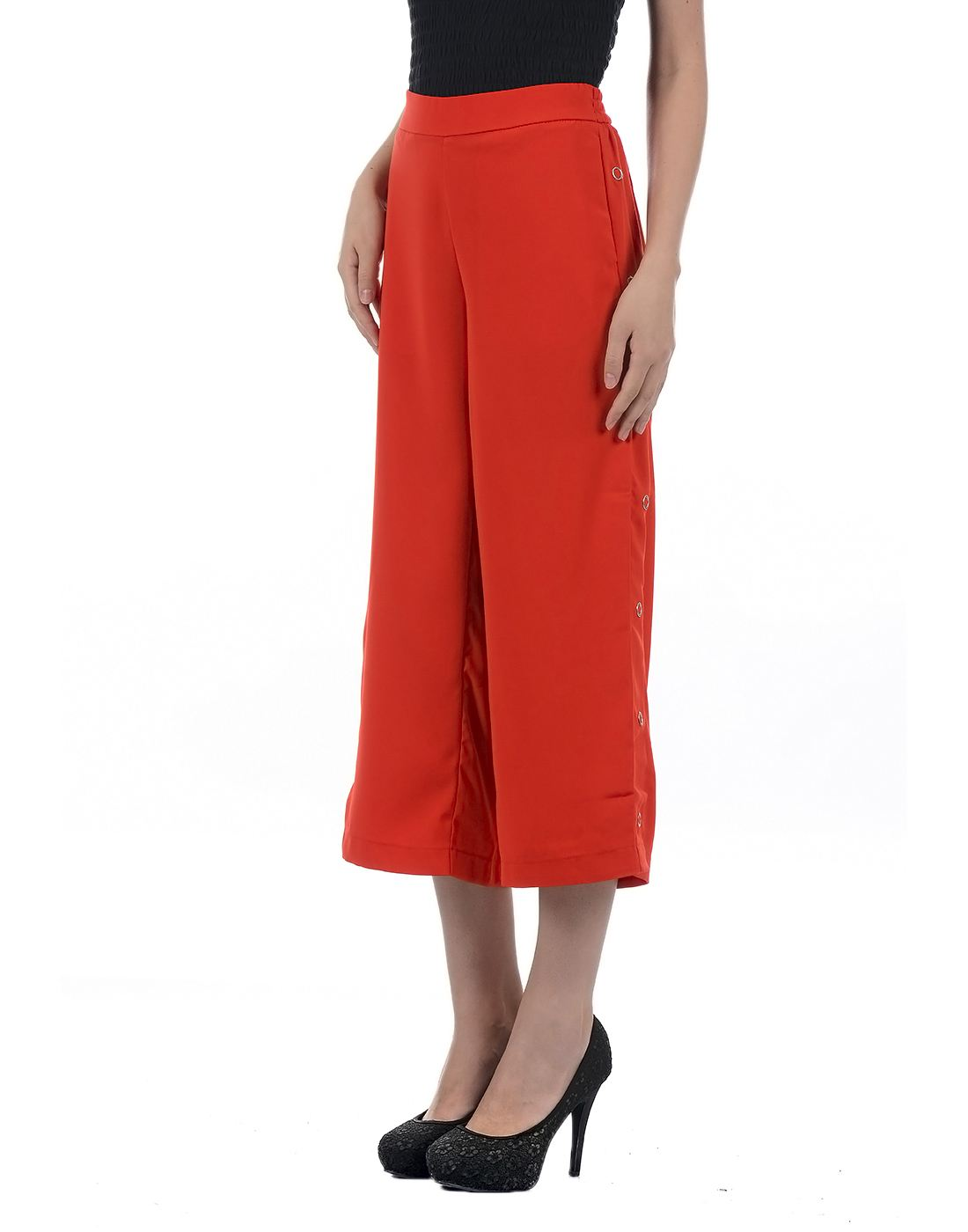 Only Women Casual Red Trouser