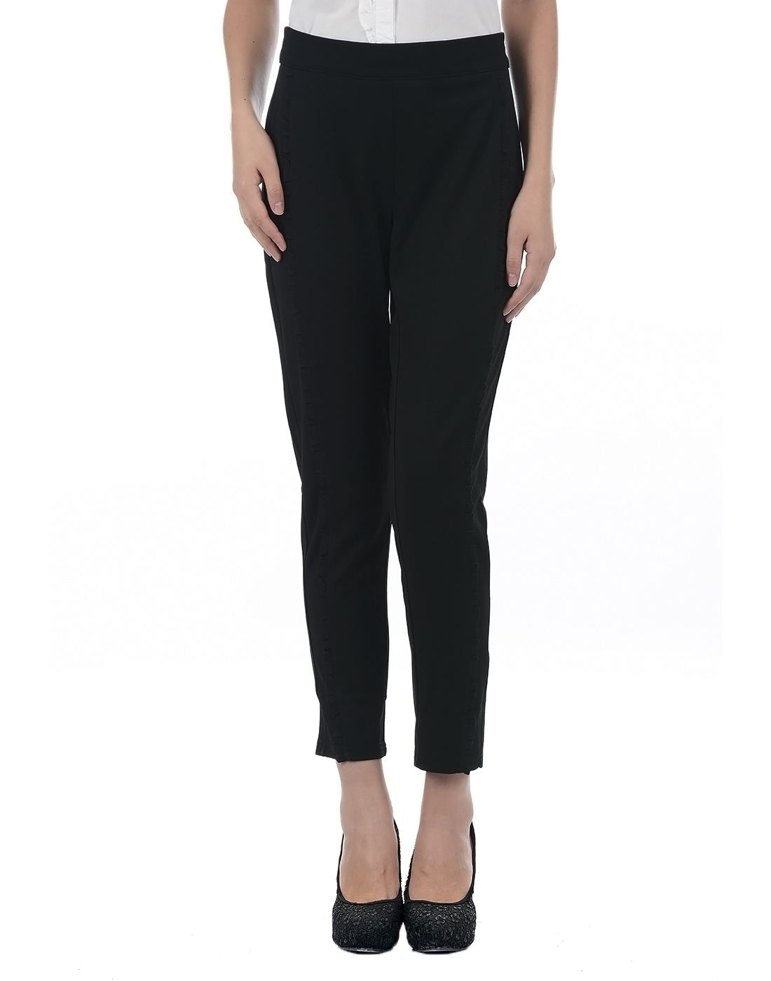 Only Women Casual Black Trouser