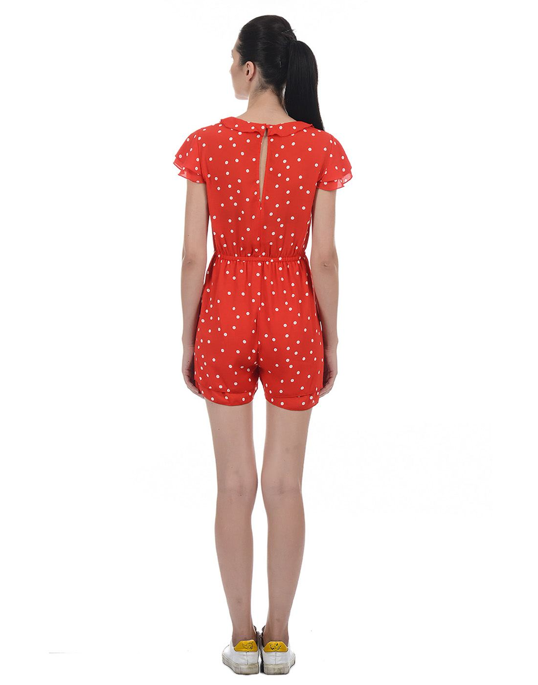 Only Women Casual Red Jump Suit