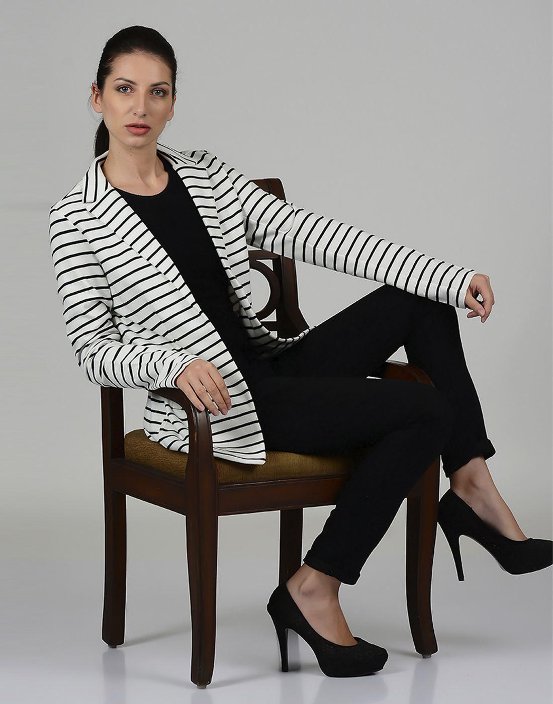 Only Women Casual White Blazer