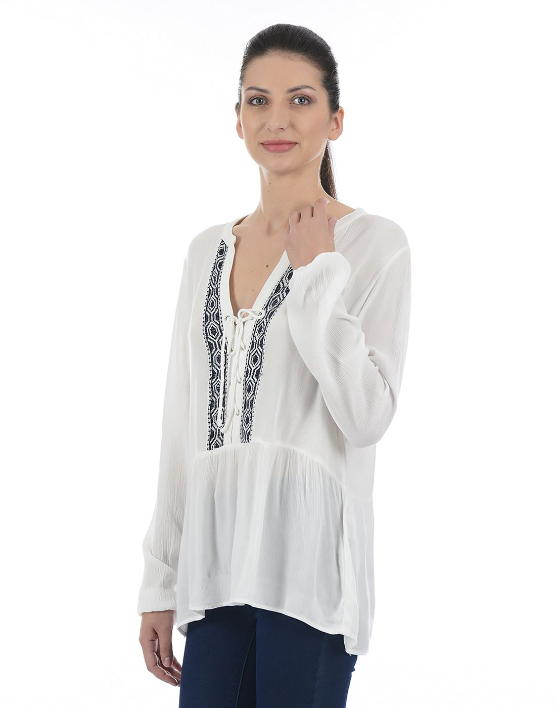 Only Women Casual White Top