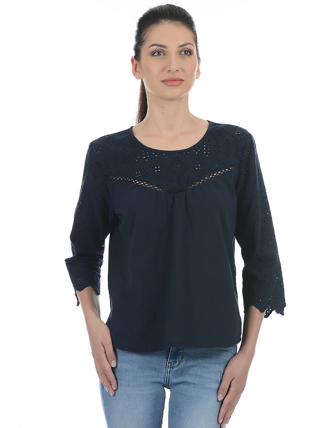 Only Women Casual Grey Top