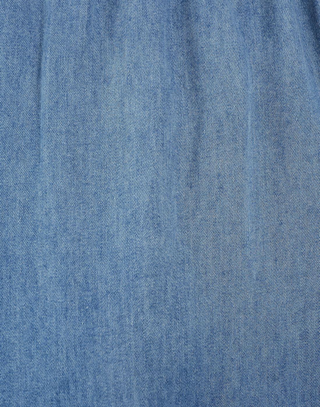 Only Women Casual Blue Shirt