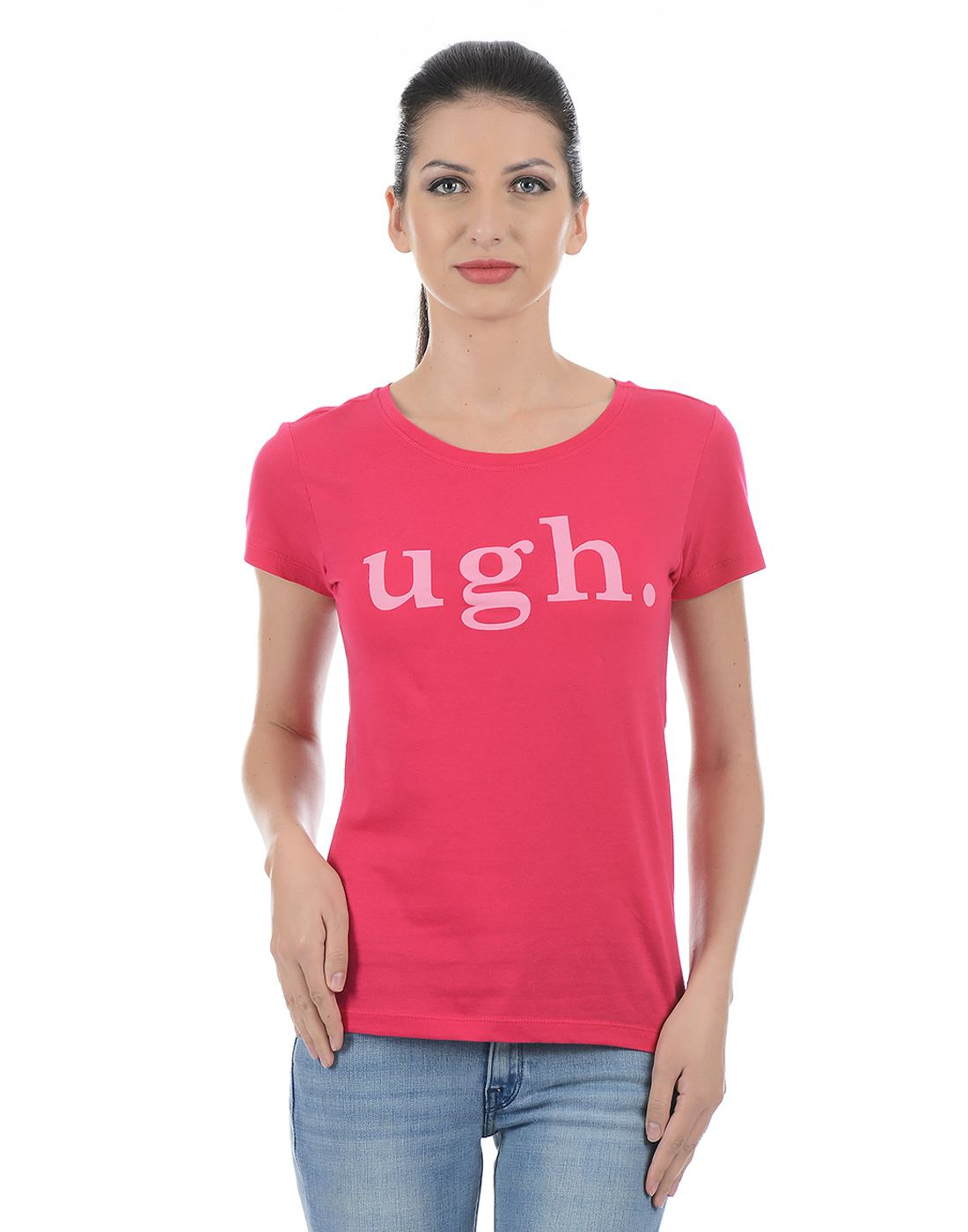 Only Women Casual Pink T-Shirt