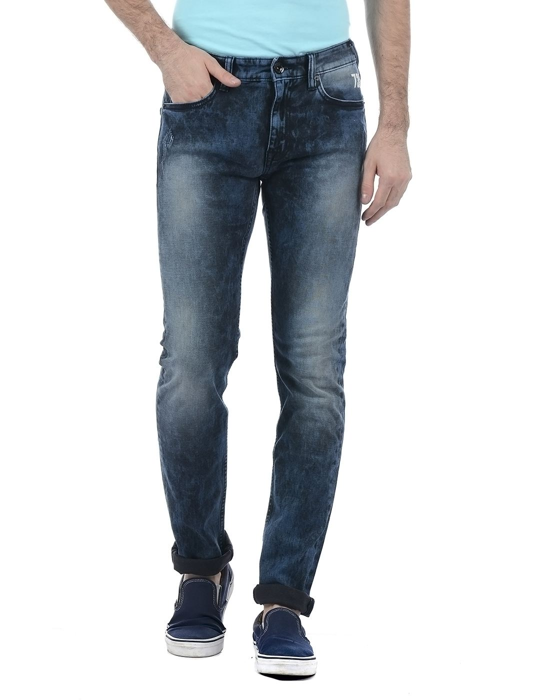 Pepe Jeans Men Casual Wear Solid Jeans