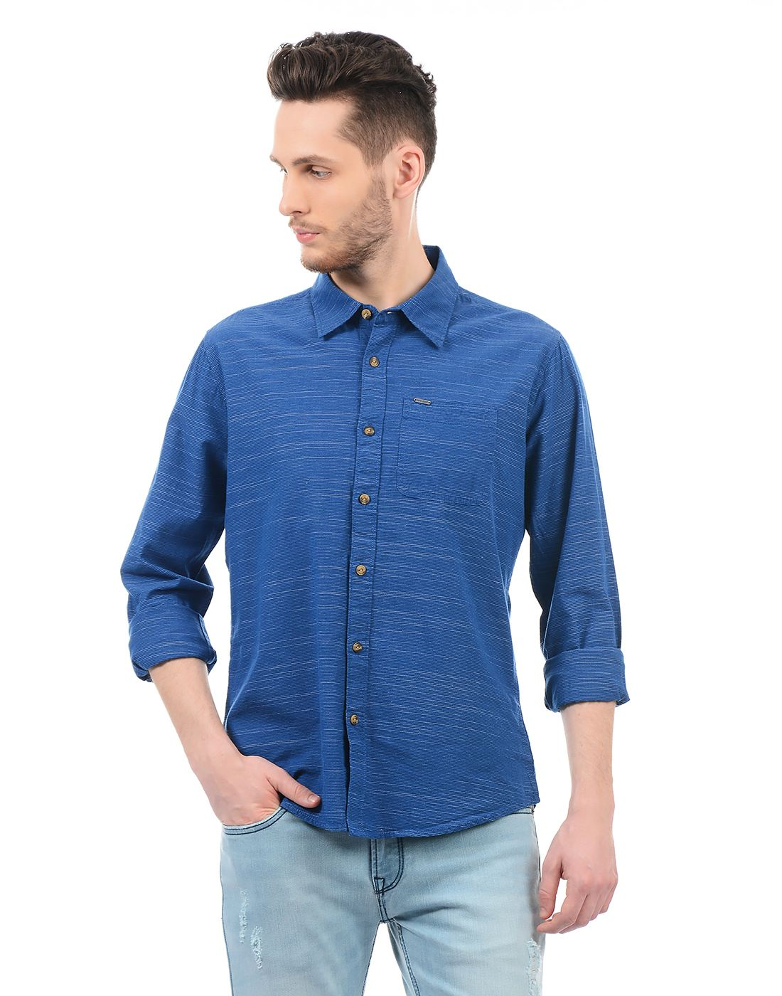 Pepe Jeans Men Casual Wear Striped Shirt
