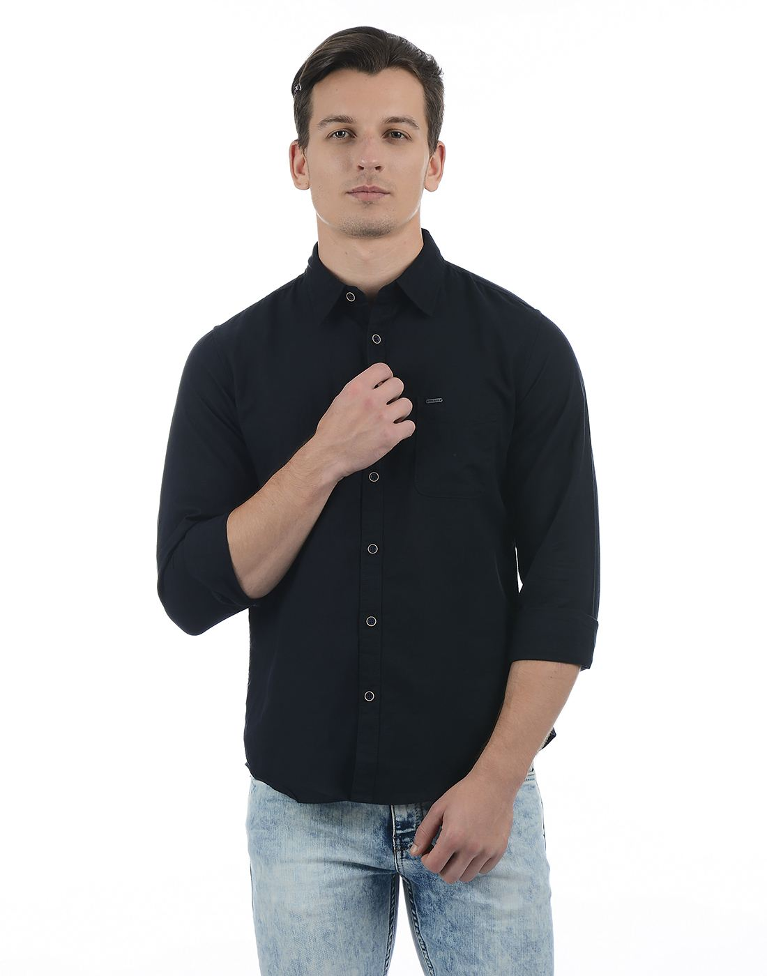 Pepe Jeans Men Solid Black Shirt