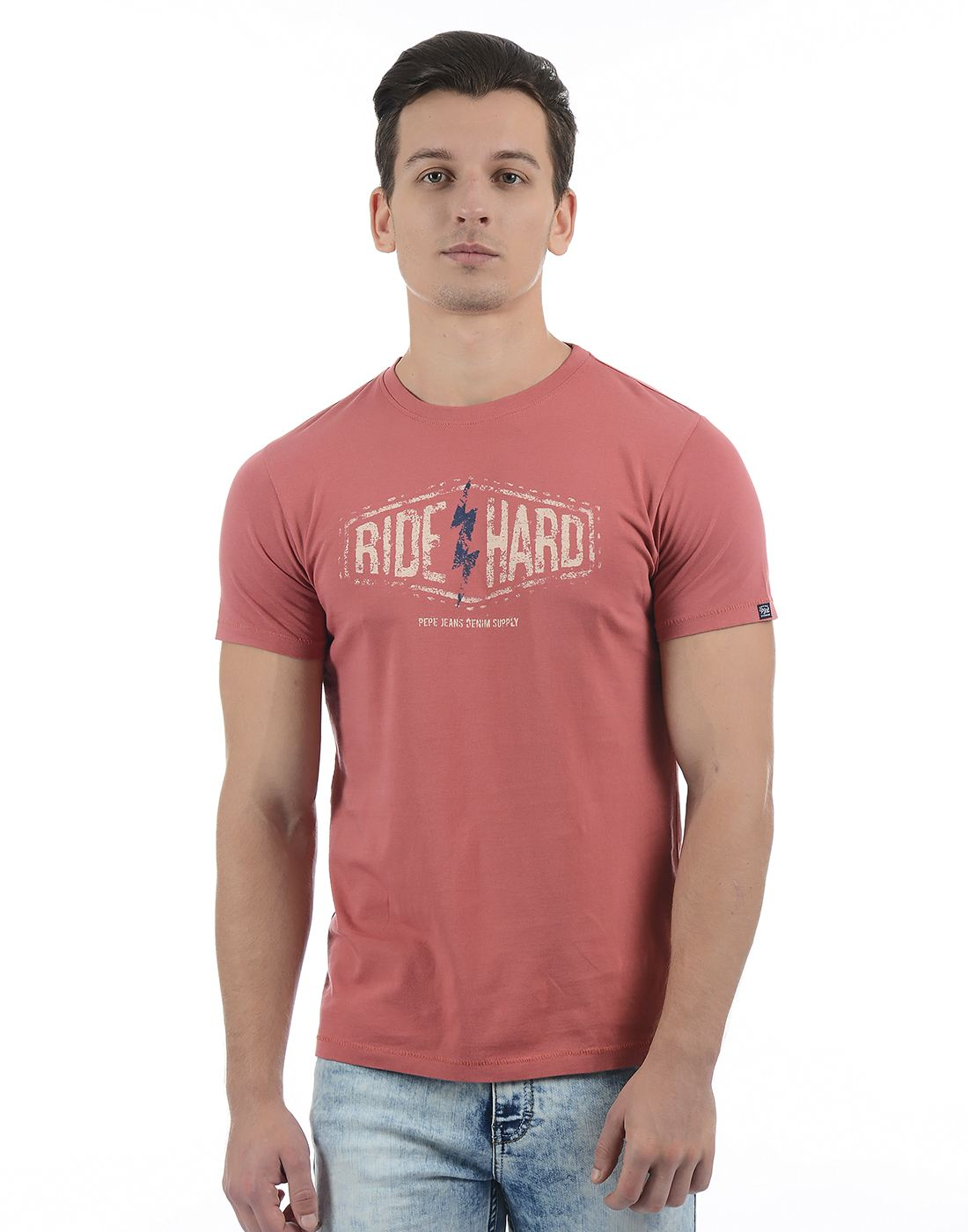 Pepe Jeans Men Graphic Print Red T-Shirt