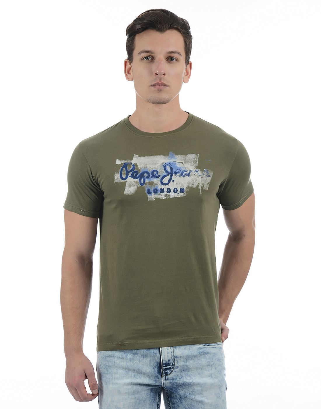 Pepe Jeans Men Graphic Print Green T-Shirt