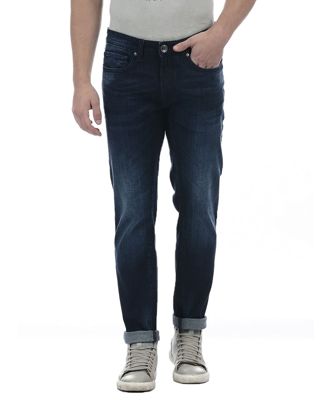 Pepe Jeans Men Solid Dark Blue Jean