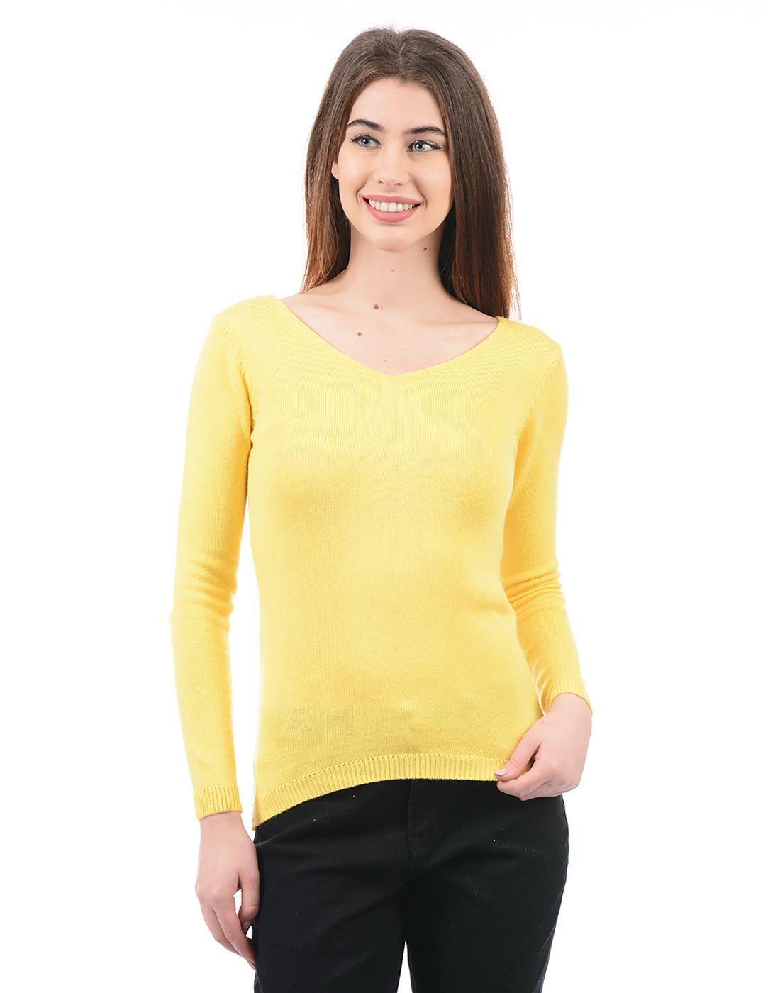 Species Women Yellow Pullover