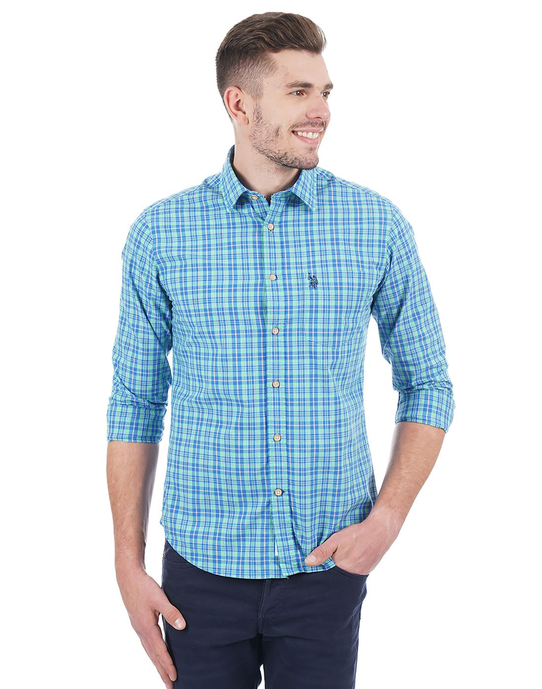 U.S. Polo Assn. Men Casual Wear Checkered Shirt