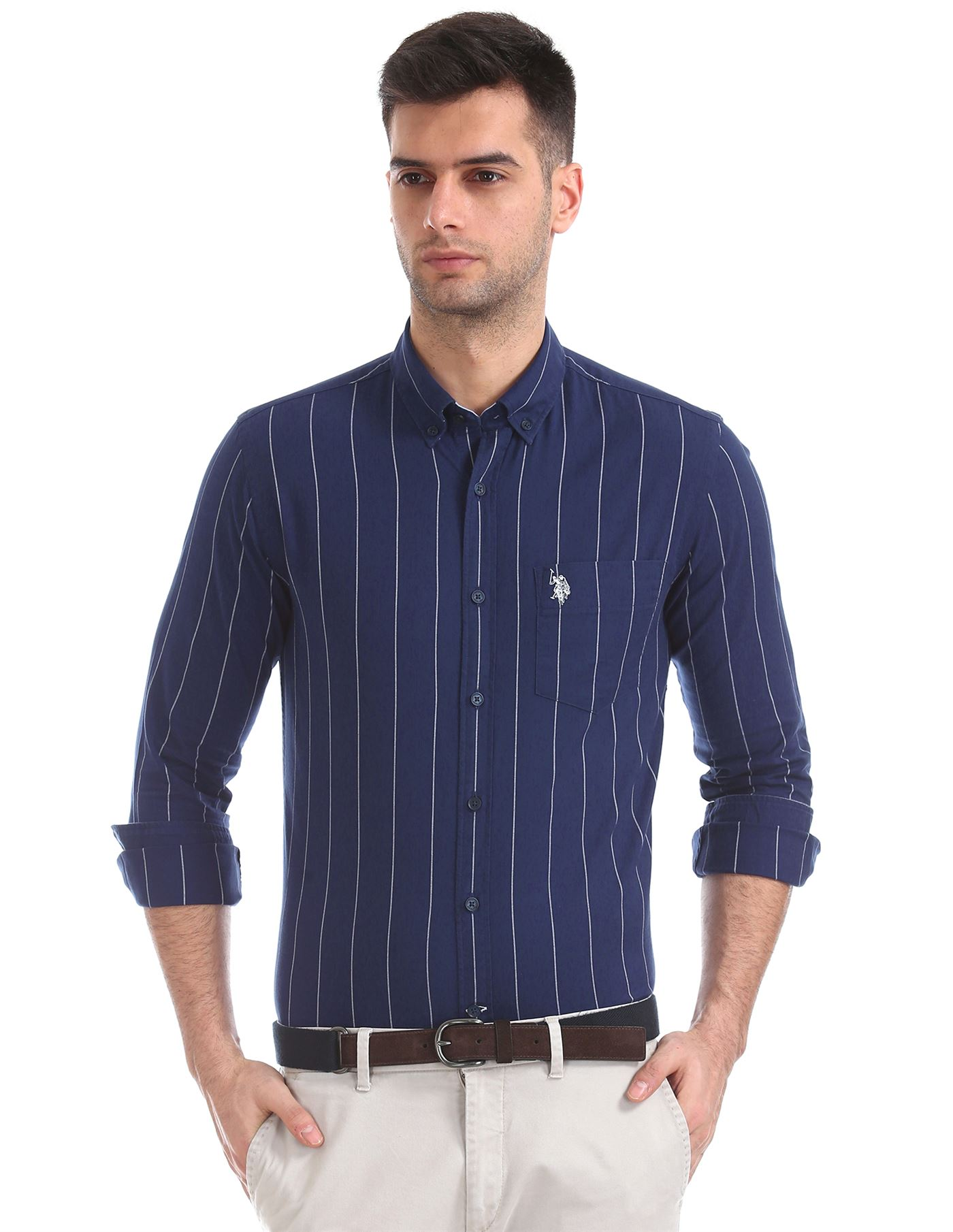 U.S. Polo Assn. Men Casual Wear Striped Shirt