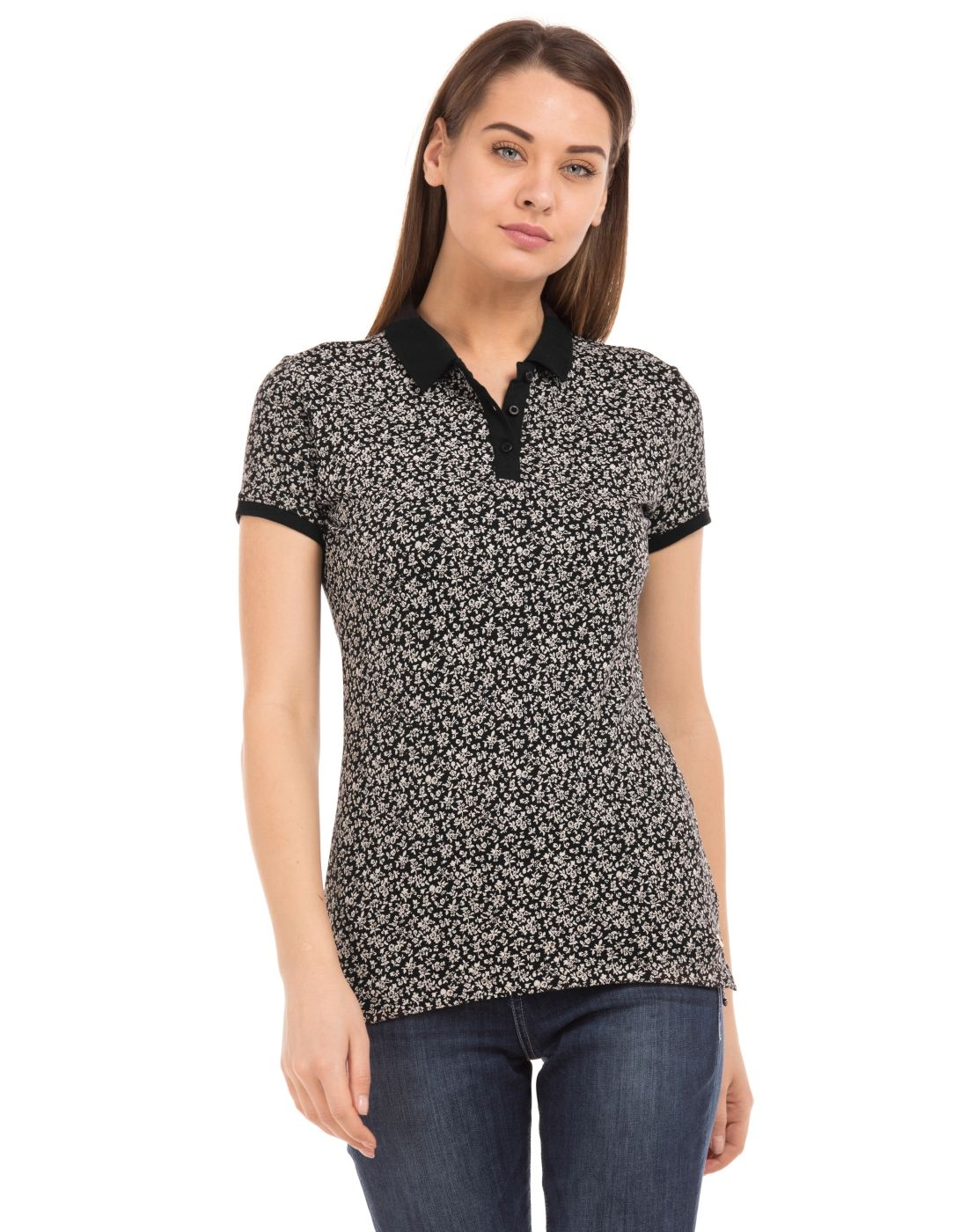 U.S. Polo Assn. Women Casual Wear Printed T-Shirt