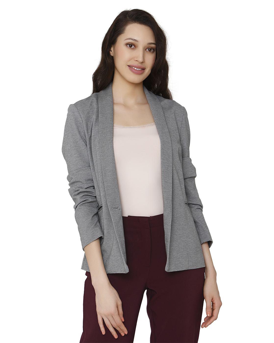 Vero Moda Women Grey Blazer