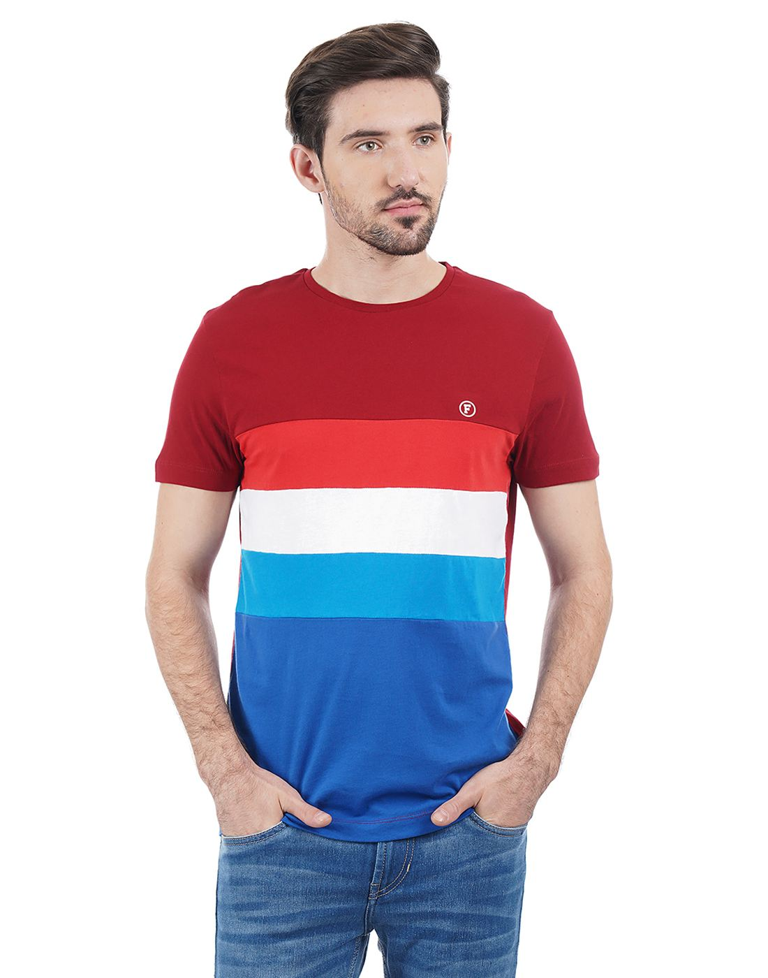 French Connection Men Red T-shirt