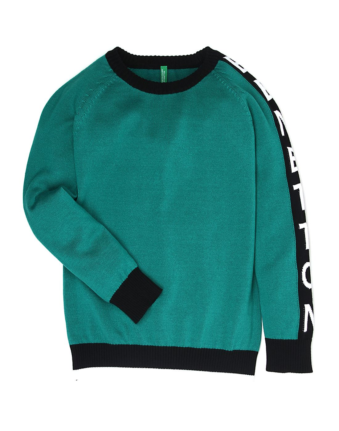 United Colors Of Benetton Boys Green Sweater