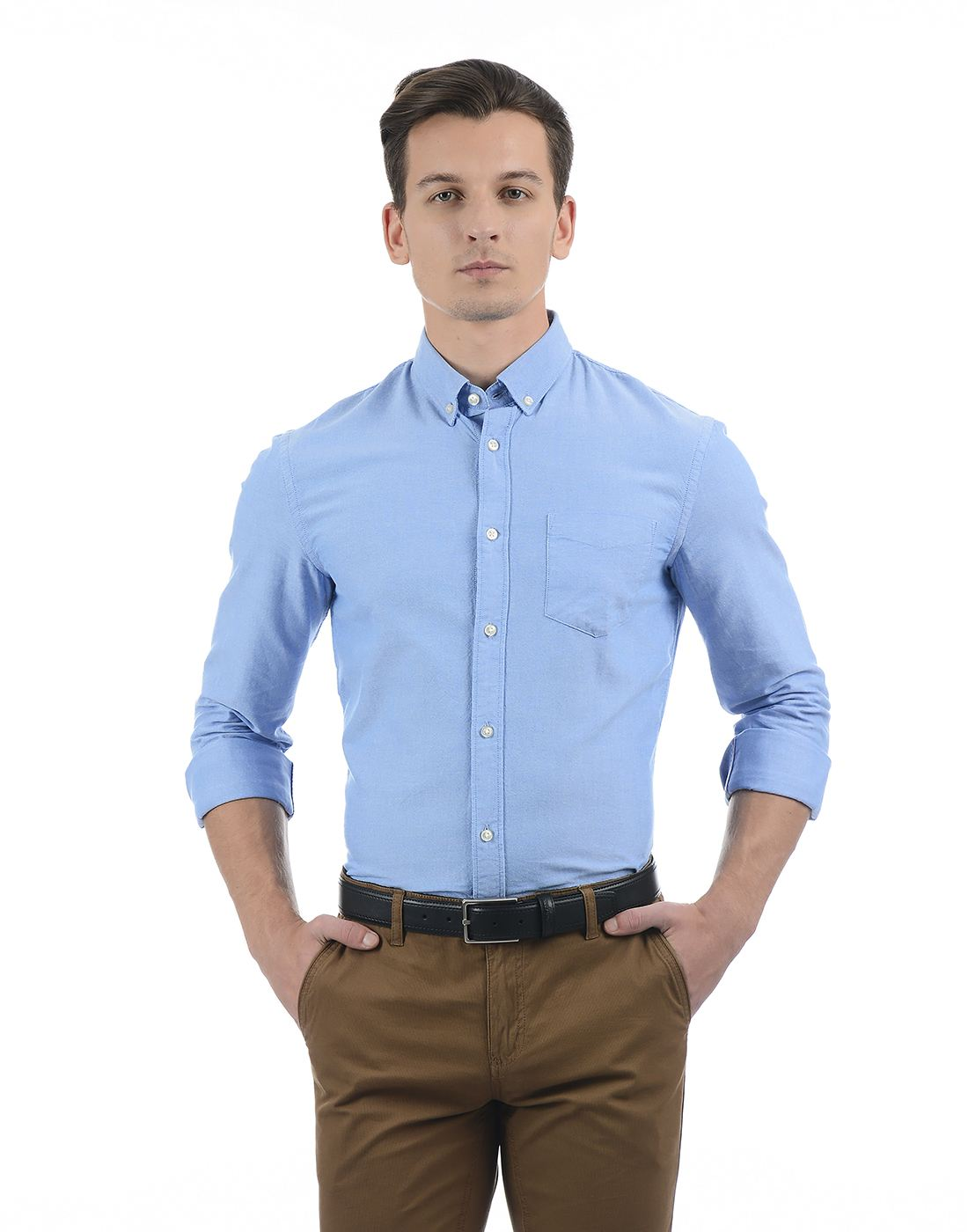 Celio Men Sky Blue Shirt