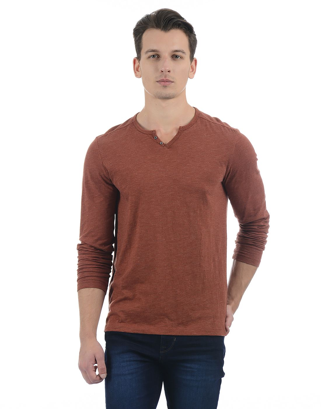 Celio Men Brown T-Shirt