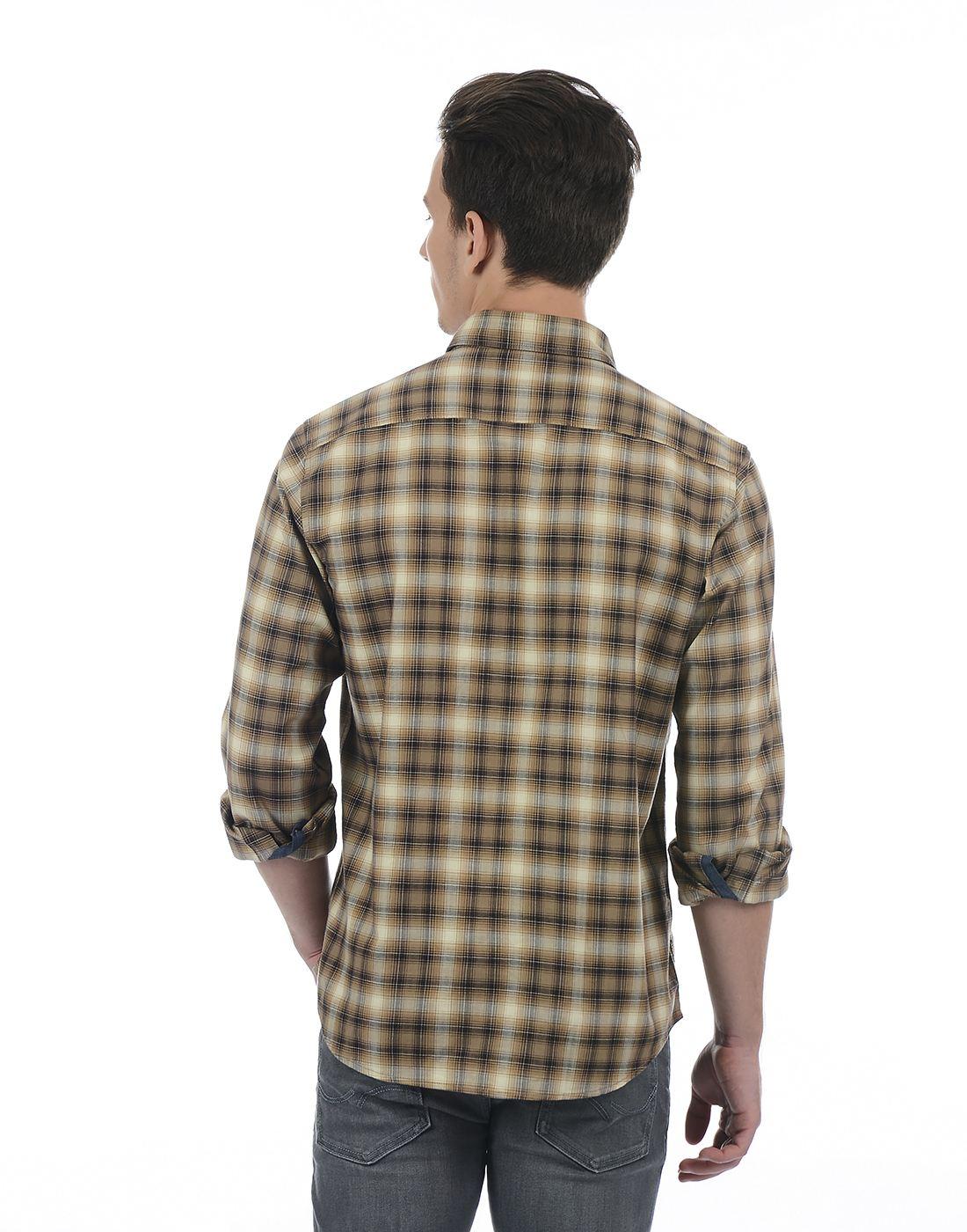 Indian Terrain Men Brown Shirt