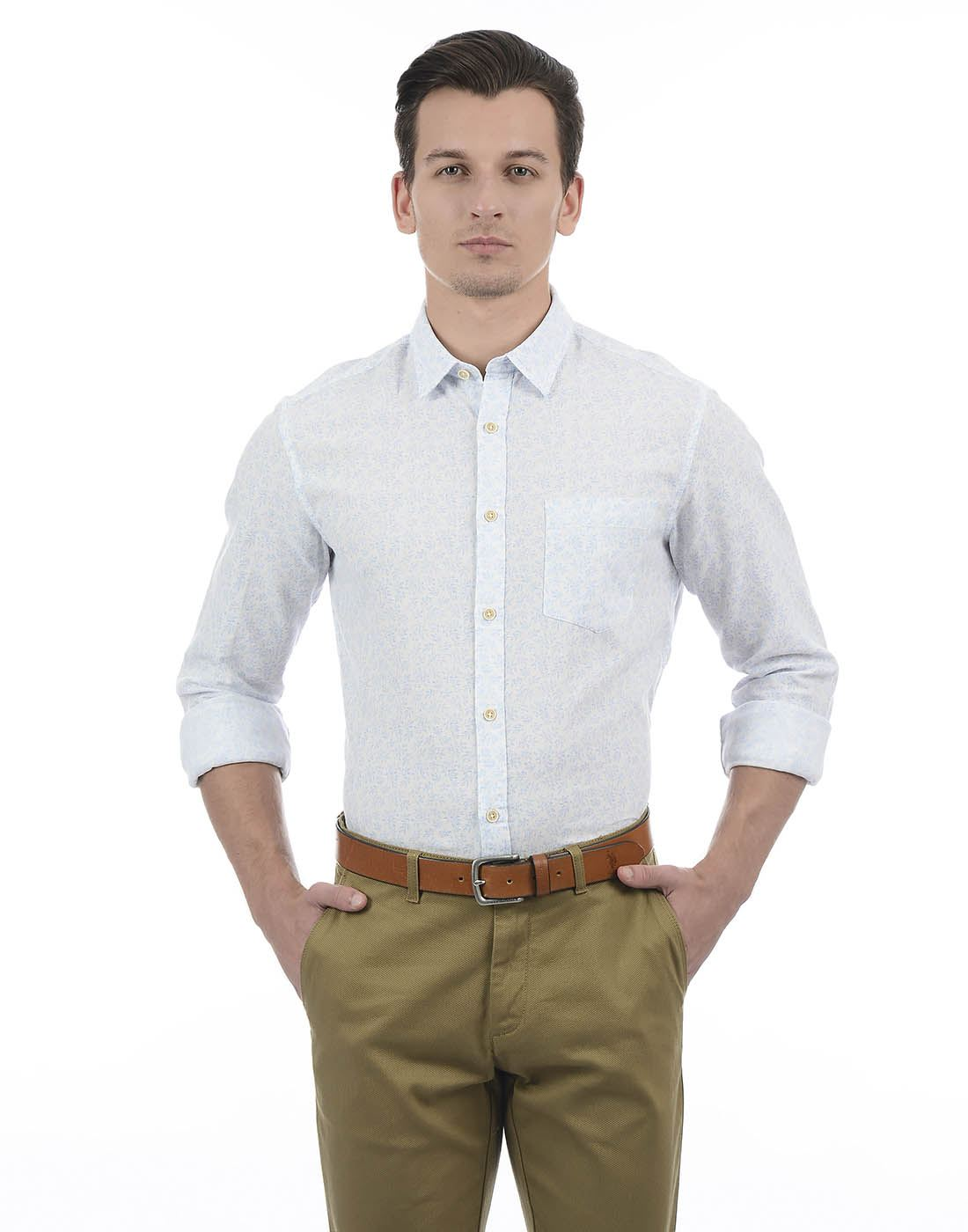 Indian Terrain Men White Shirt