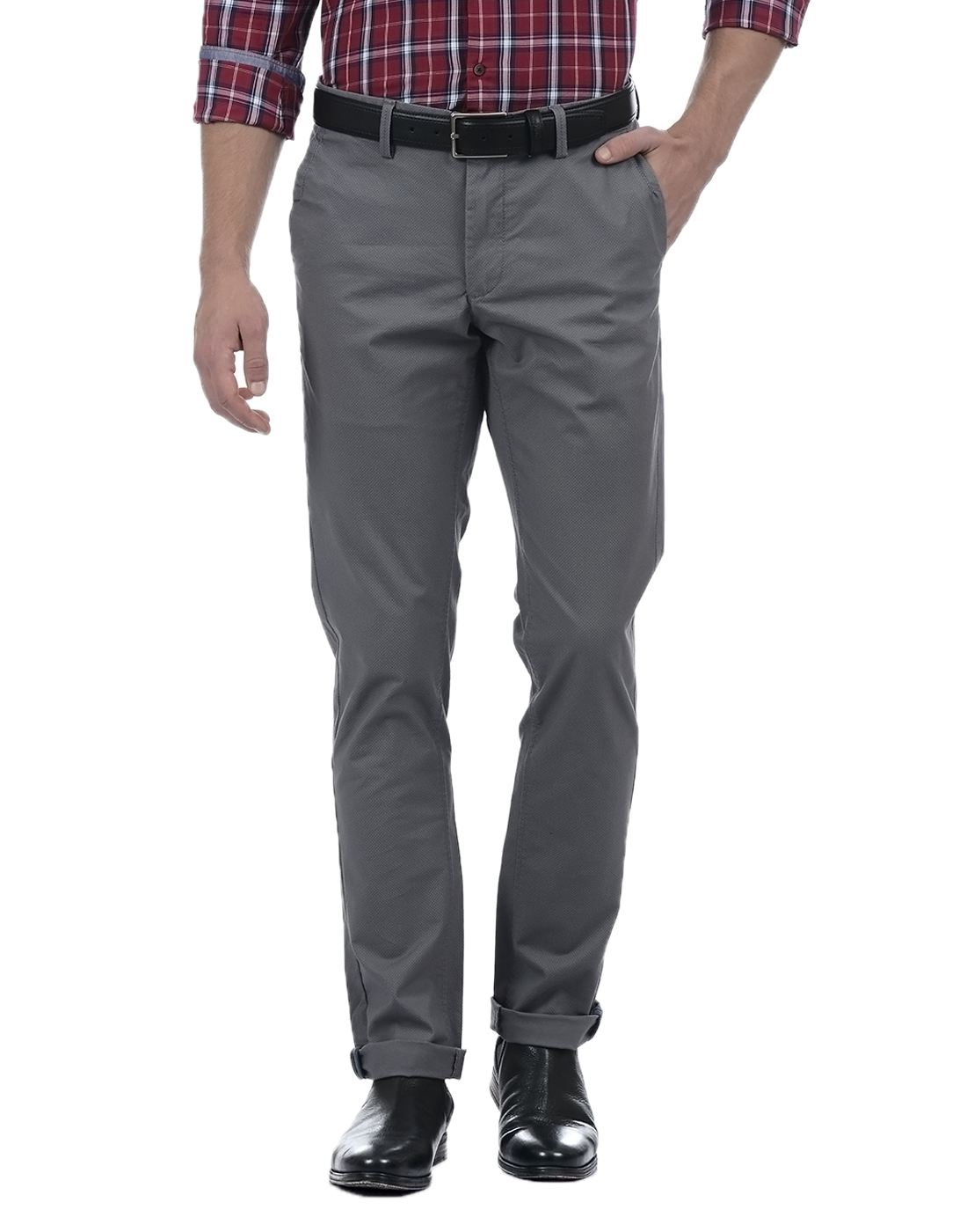 Indian Terrain Men Grey Pant & Trouser