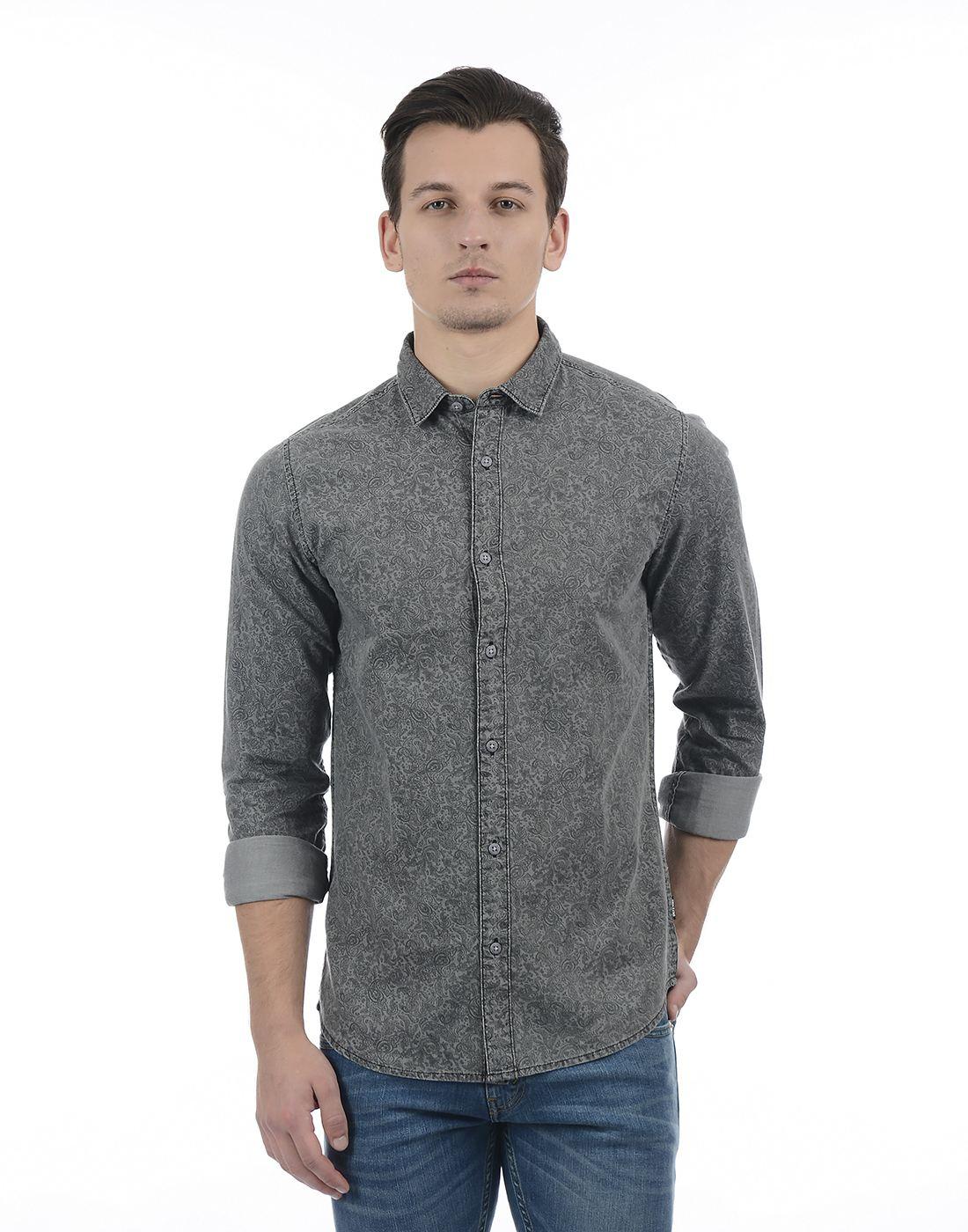 Only N Sons Men Grey Shirt