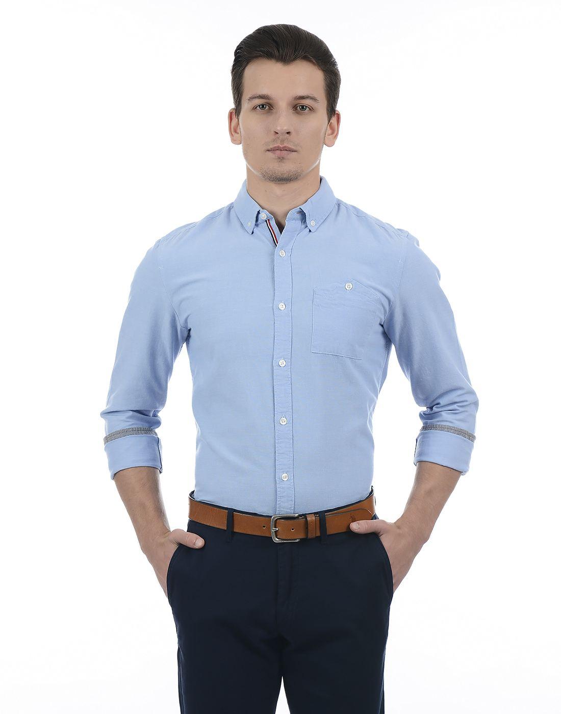 Only N Sons Men Blue Shirt