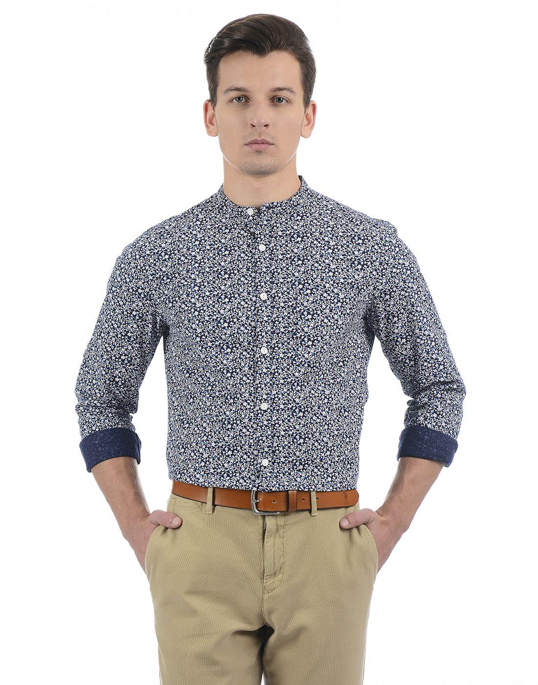 Only N Sons Men Navy Blue Shirt