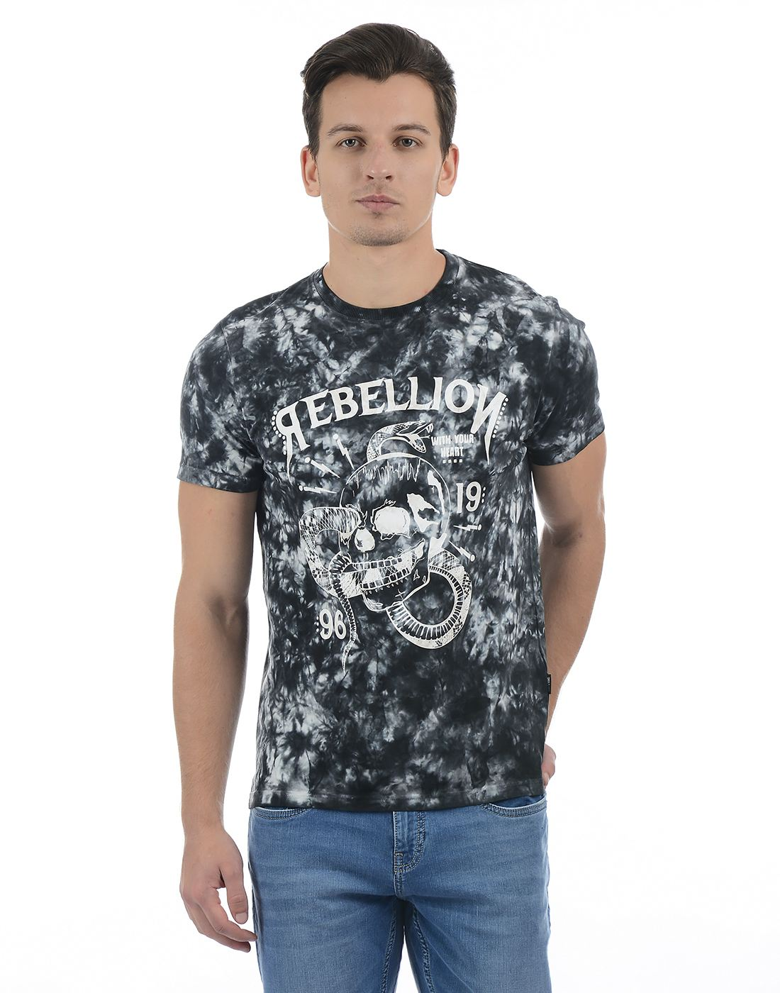 Only N Sons Men Black T-shirt